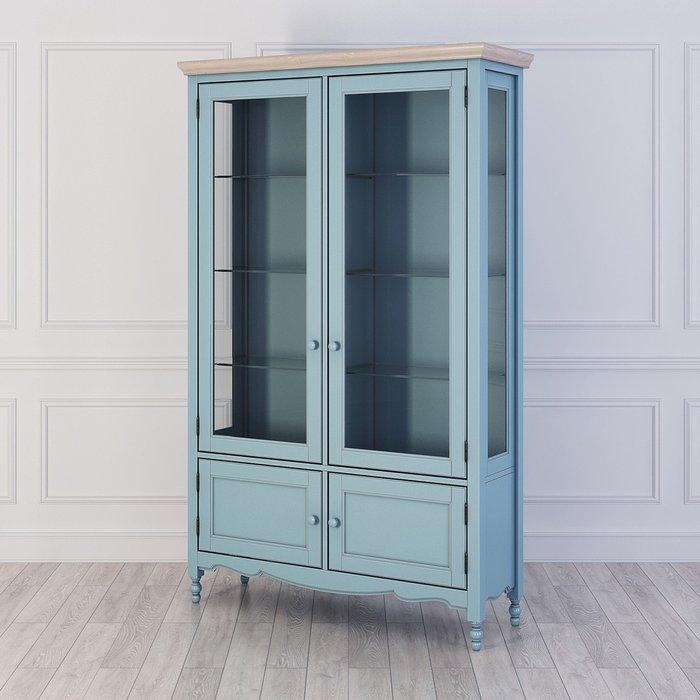 Сервант Leblanc голубого цвета