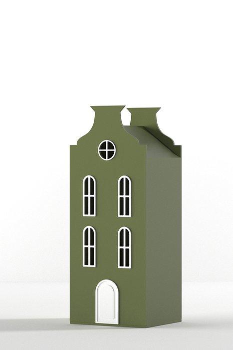 Шкаф-домик Брюссель Mini цвета хаки