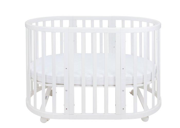 Кроватка-трансформер Ellipsebed 70х120 белого цвета