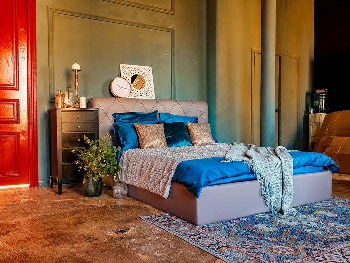 Кровать Ember лилового цвета 160х200