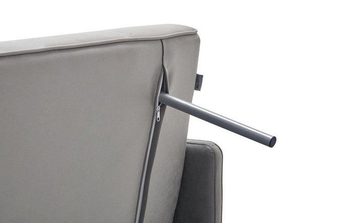 Прямой диван-кровать Claire S серого цвета