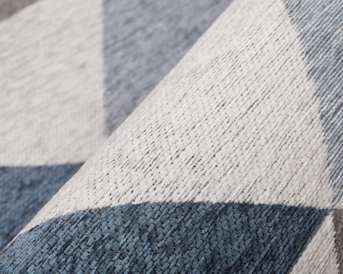 Ковер Line Olaf 80х150 с серо-синим узором