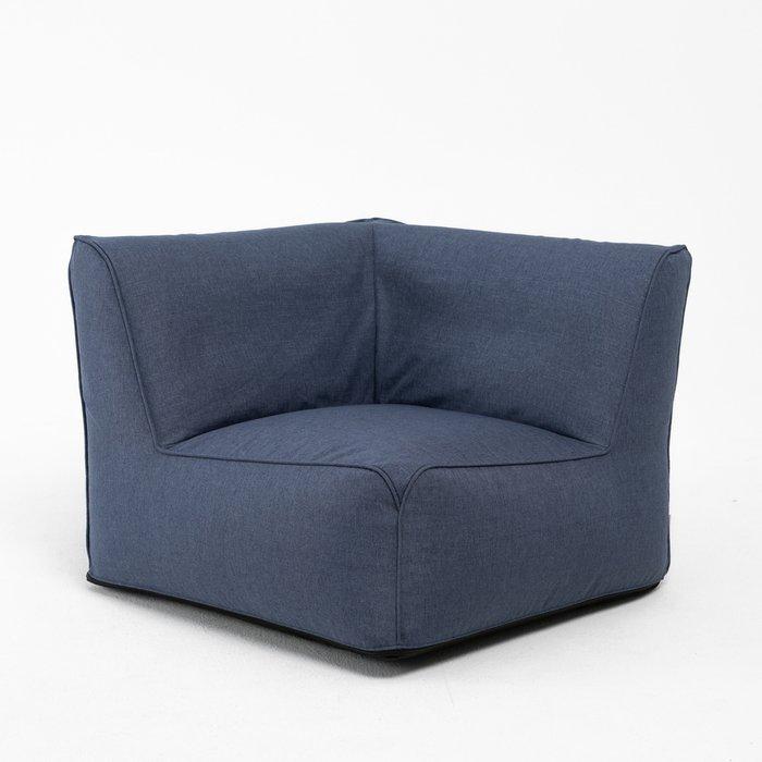 Модульное угловое кресло Lite темно-синего цвета