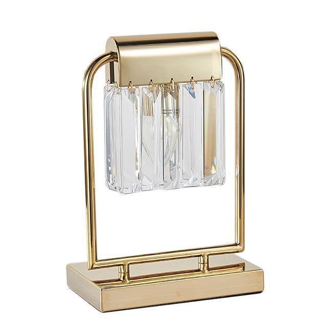 Настольная лампа с прозрачным плафоном