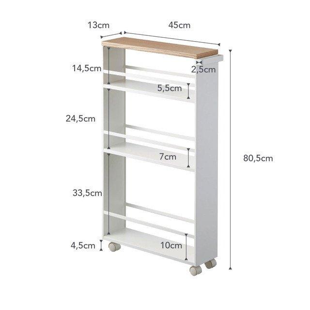 Сервировочный столик для специй Tower белого цвета