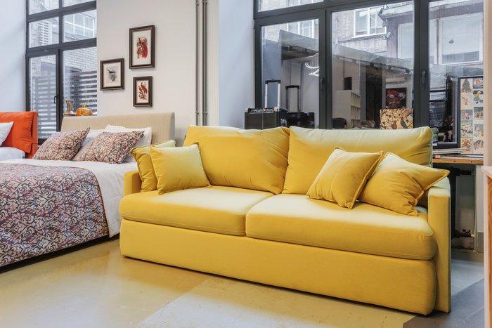 Диван-кровать прямой Country Fresh желтого цвета