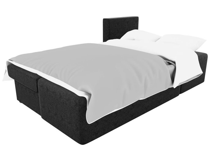 Угловой диван-кровать Поло черного цвета