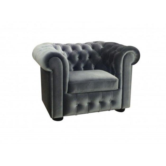 Кресло Бергамо серого цвета