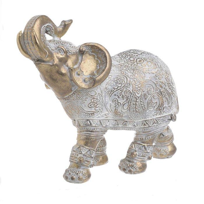 Статуэтка слон бело-золотого цвета
