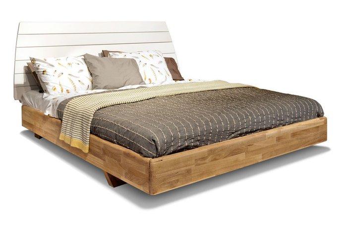 Кровать Wallstreet 180х200 бело-коричневого цвета