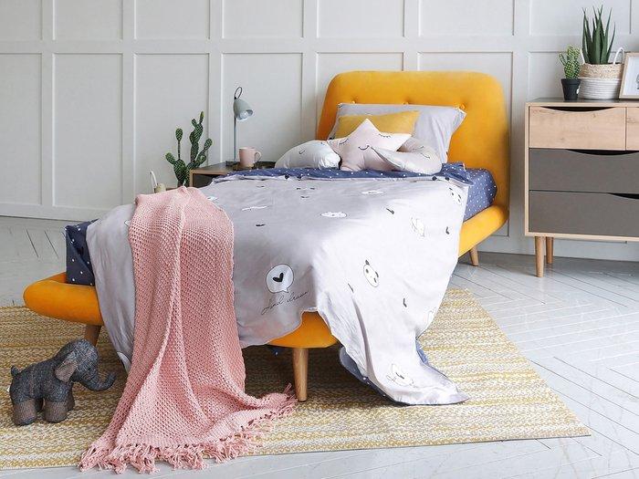 Кровать Loa 90х200 голубого цвета