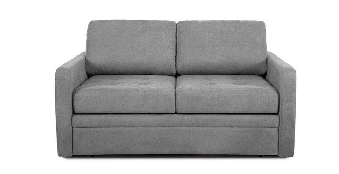 Прямой диван-кровать Бруно серого цвета