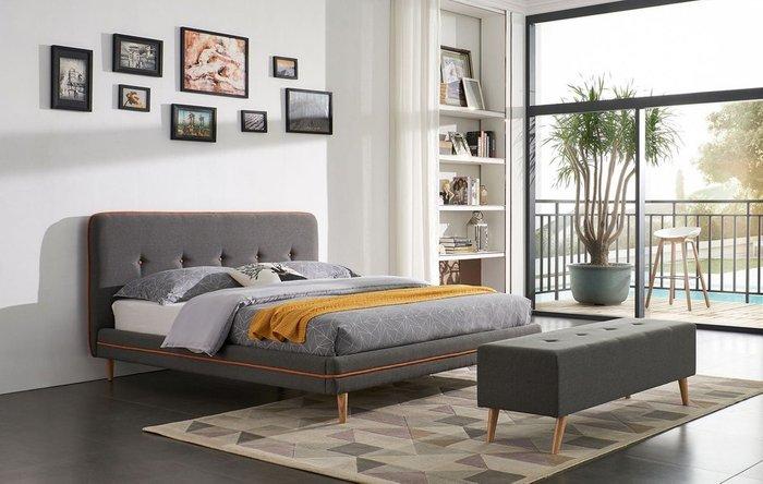 Кровать Madeira 140x200 серо-коричневого цвета