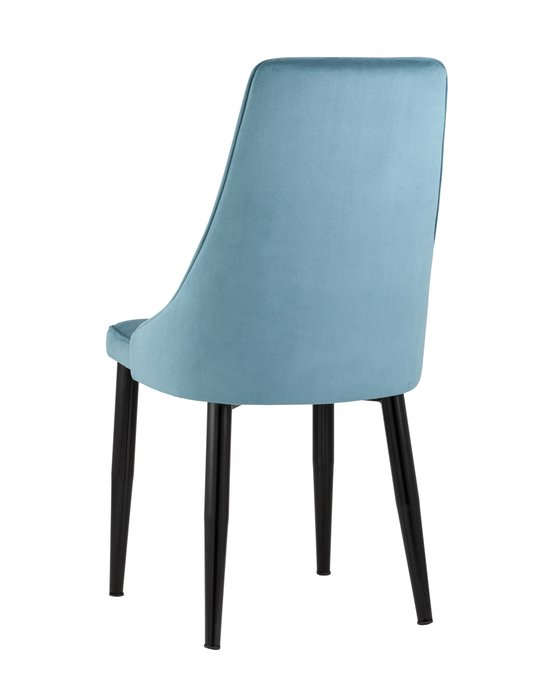 Стул Ларго велюр пыльно-голубого цвета