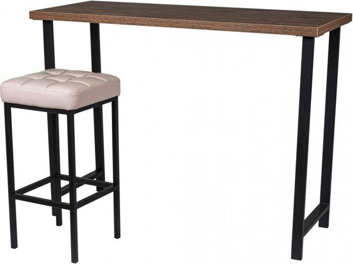 Стол-консоль барный темно-коричневого цвета