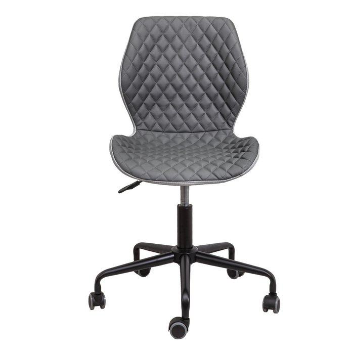 Кресло поворотное Delfin серого цвета