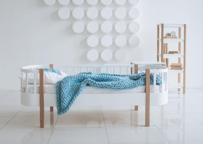 Кровать подростковая Сlassic белого цвета