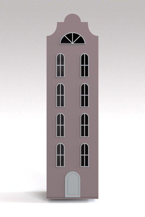 Шкаф-домик Стокгольм Maxi цвета тёмная роза