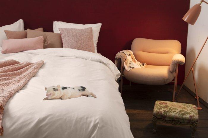 Комплект постельного белья Поросенок розовый 150х200