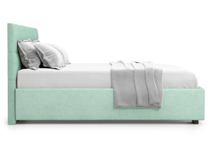 Кровать Garda 140х200 бирюзового цвета с подъемным механизмом