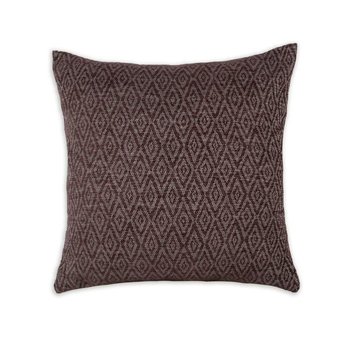 Декоративная подушка Zoom Rhombus Chocolate темно-коричневого цвета