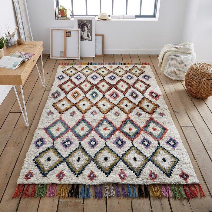 Ковер Ourika в берберском стиле разноцветный 120x170