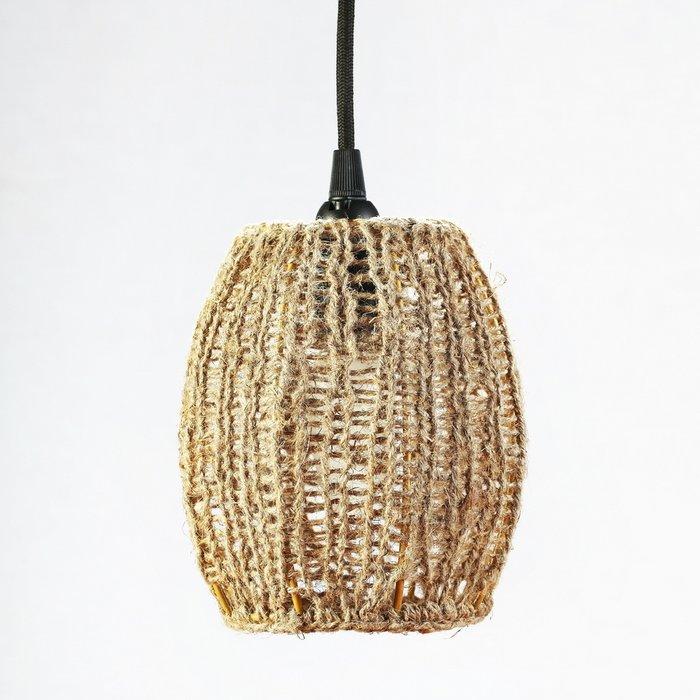 Подвесной светильник Тюльпан Маленький с абажуром из шпагата