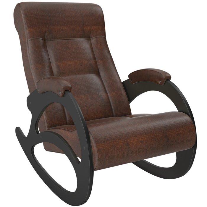 Кресло-качалка Модель 4 без лозы коричневого цвета