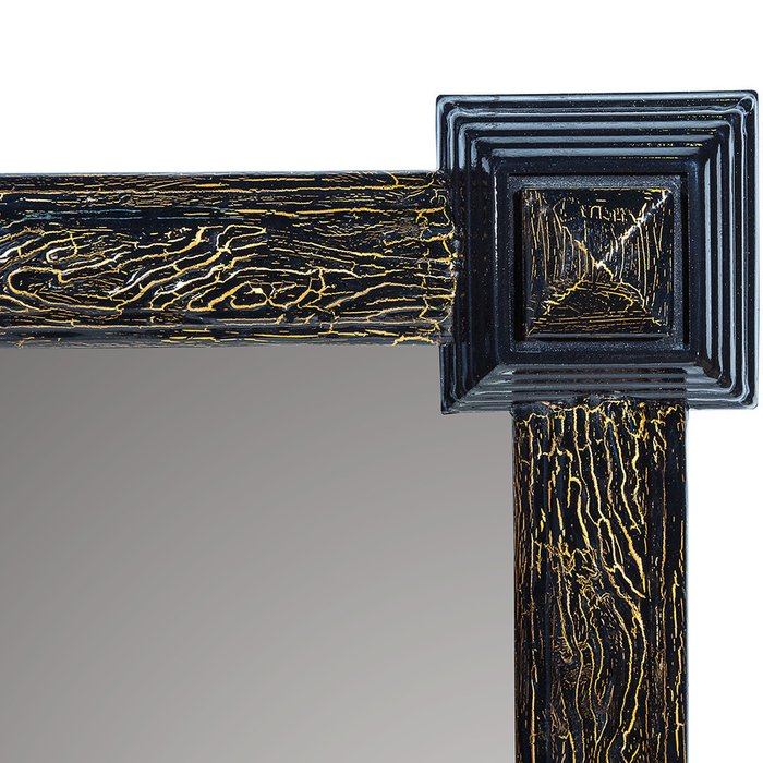 Зеркало настенное Кора черно-золотого цвета