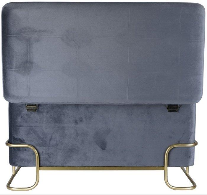 Банкетка серого цвета на металлических ножках