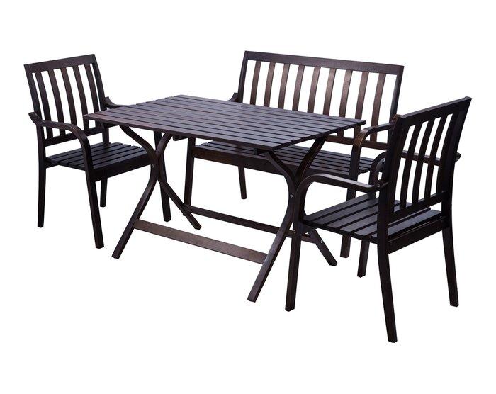 Обеденный стол Берн темно-коричневого цвета