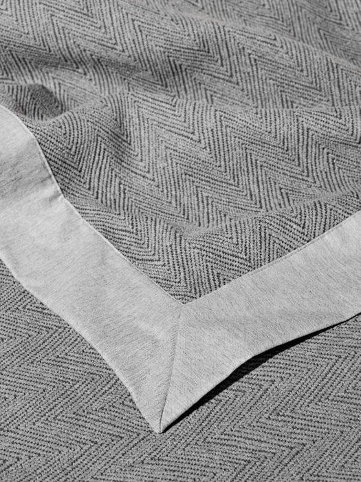 Трикотажное покрывало Piano grey 240х260 серого цвета