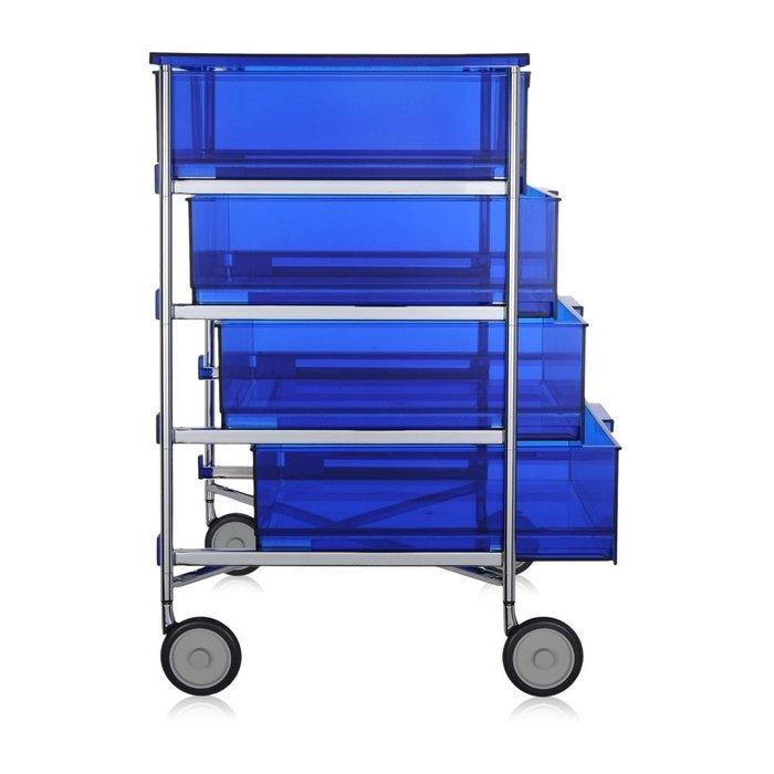 Комод Mobil синего цвета на колесах