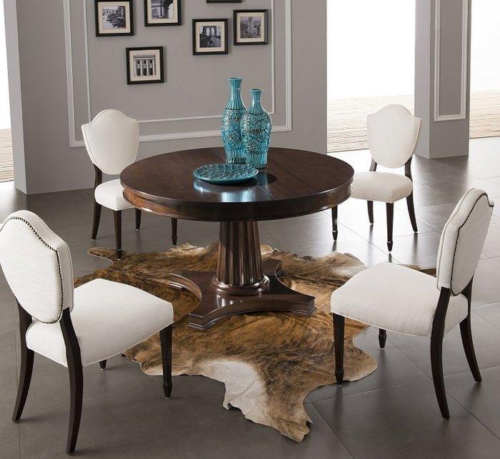 Обеденный стол раздвижной Mestre с отделкой из шпона вишни