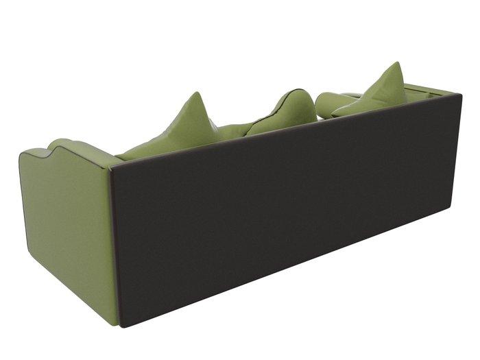 Прямой диван-кровать Рико светло-зеленого цвета (экокожа)
