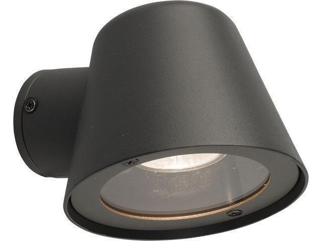 Уличный настенный светильник Soul черного цвета