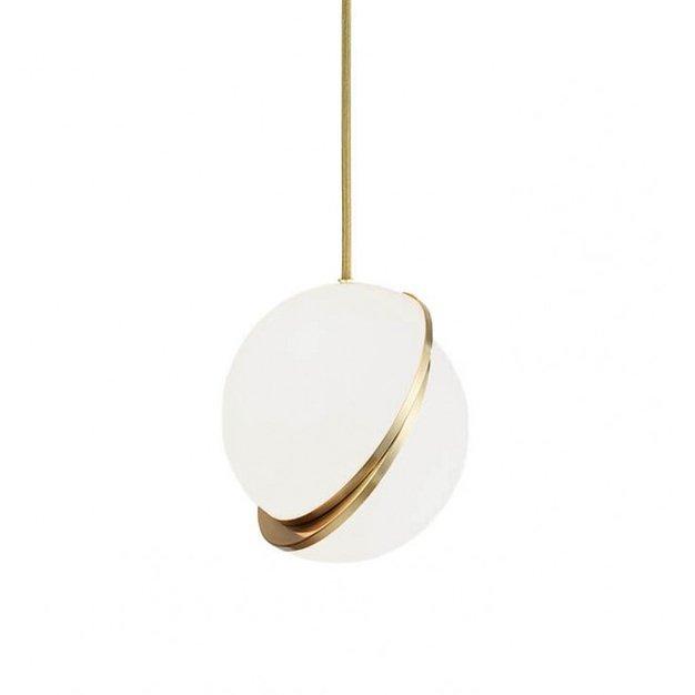 Подвесной светильник Crescent с белыми плафоном из акрила