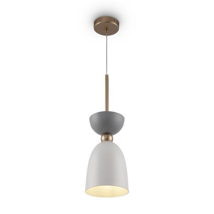 Подвесной светильник Cloches с плафоном серо-белого цвета