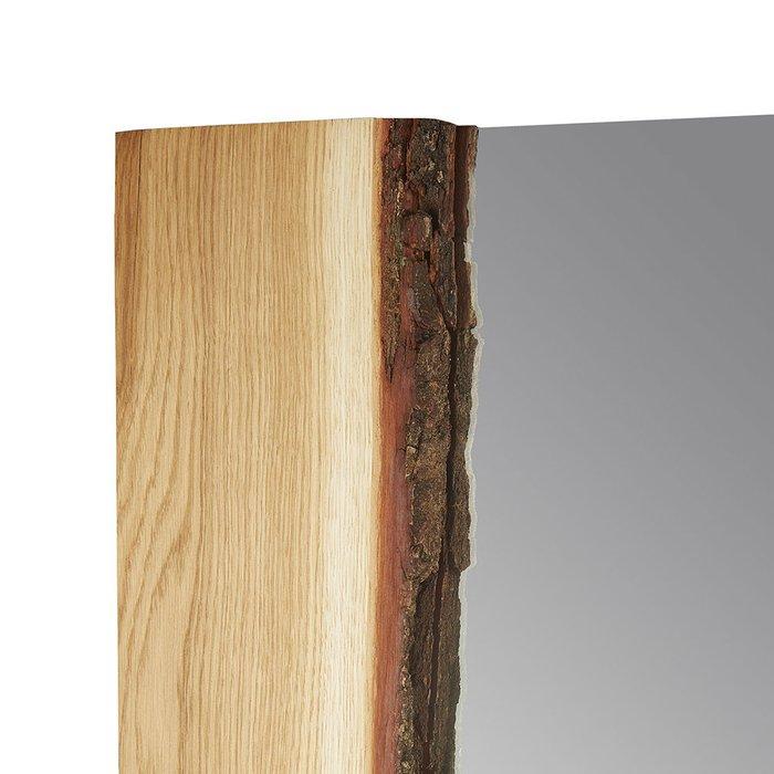 Зеркало настенное Дуб с корой с рамой из массива дерева