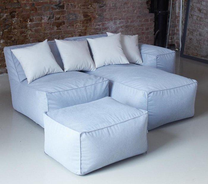 Модульный диван с наклонной спинкой