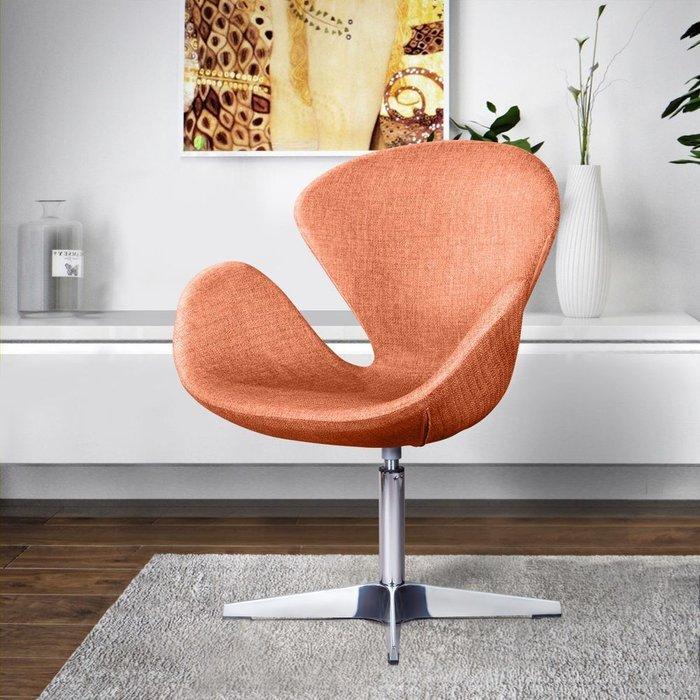 Лаунж кресло Swan оранжевого цвета