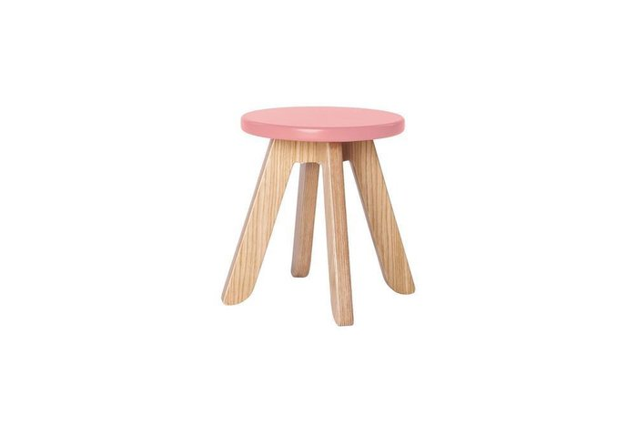 Табурет Malevich розового цвета 4-8 лет