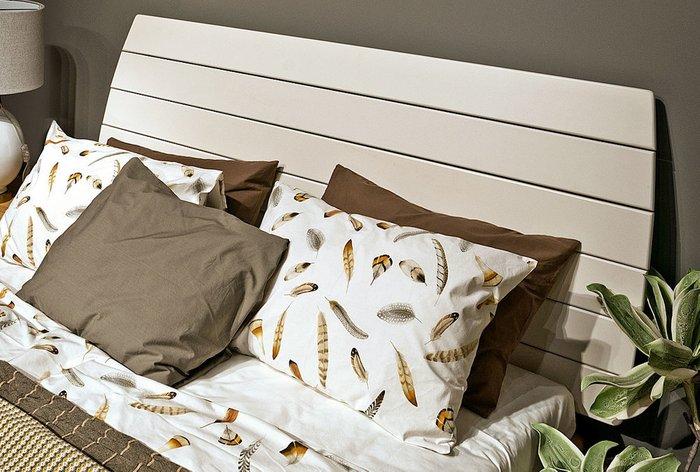 Кровать Wallstreet 120х200 бело-коричневого цвета