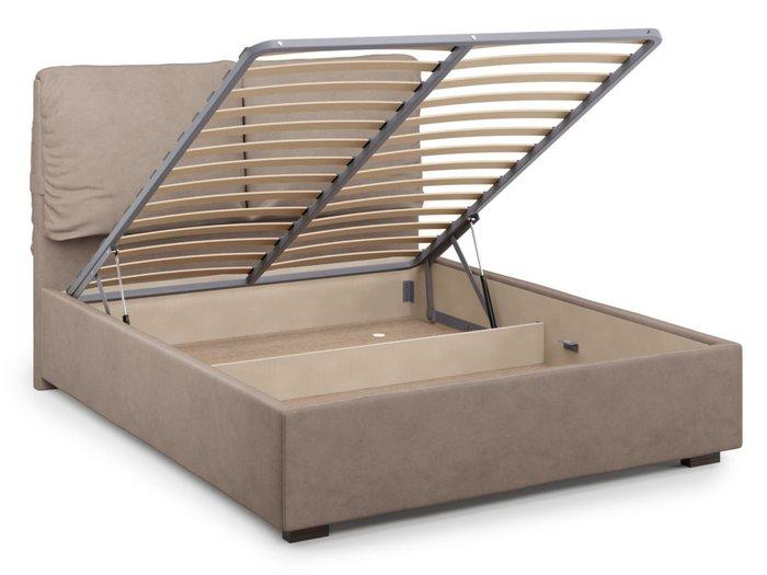 Кровать Trazimeno 140х200 светло-коричневого цвета с подъемным механизмом