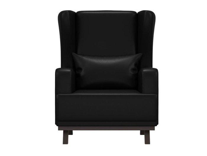 Кресло Джон черного цвета (экокожа)