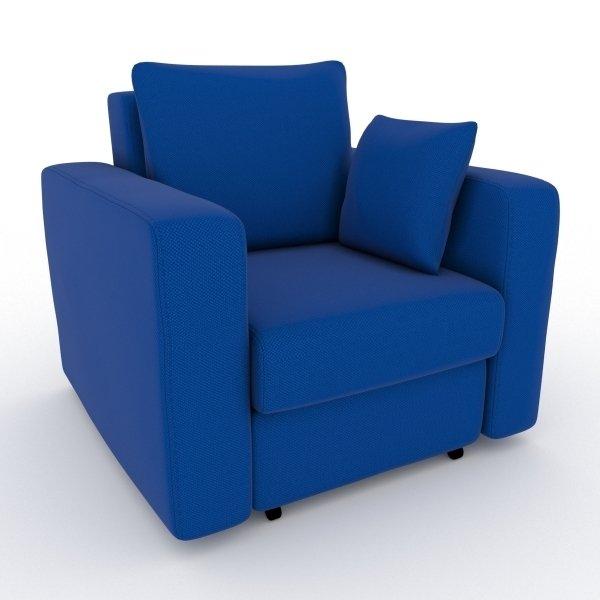 Кресло-кровать Liverpool синего цвета