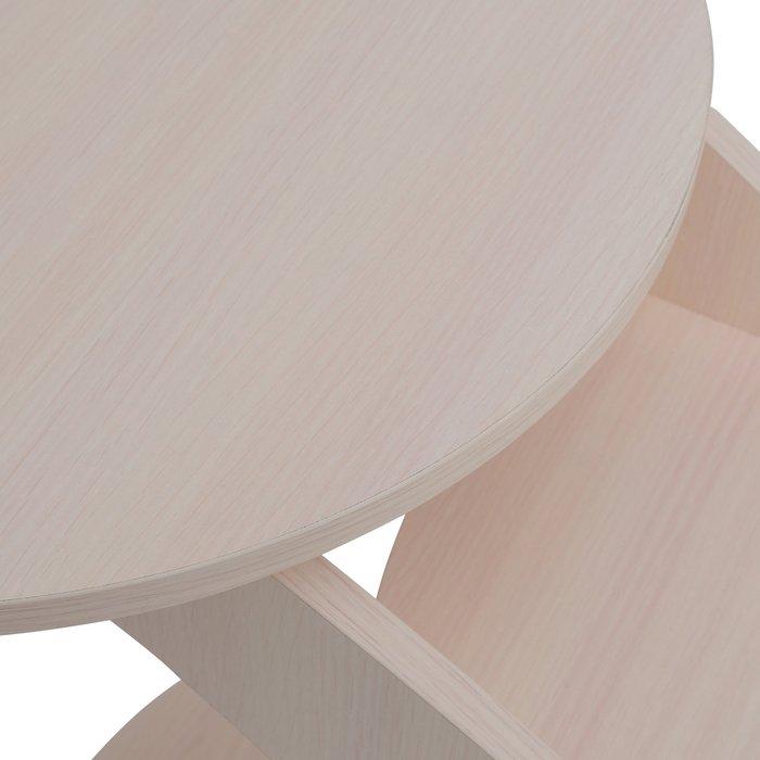 Приставной столик Стелс цвета молочный дуб
