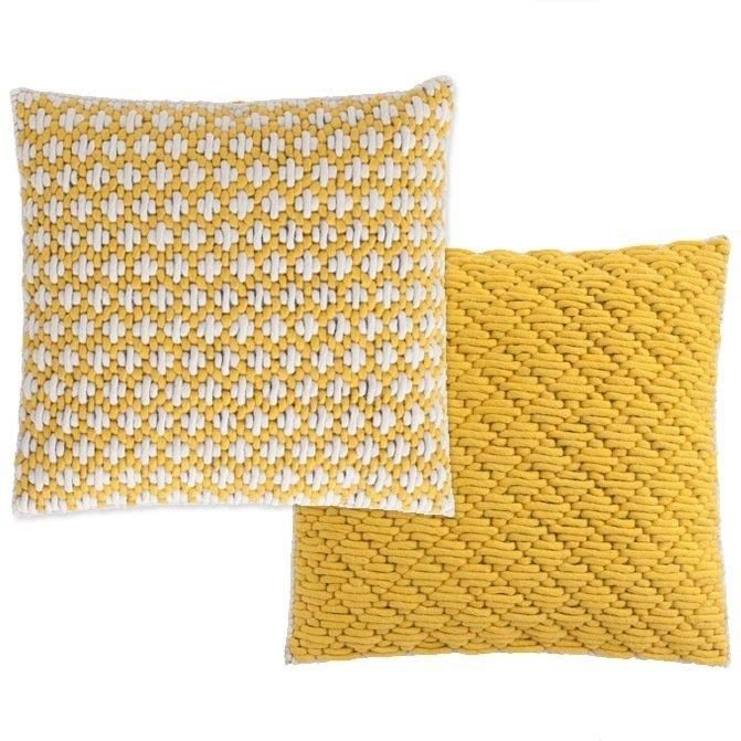 Подушка Yellow-yellow с ручной вышивкой
