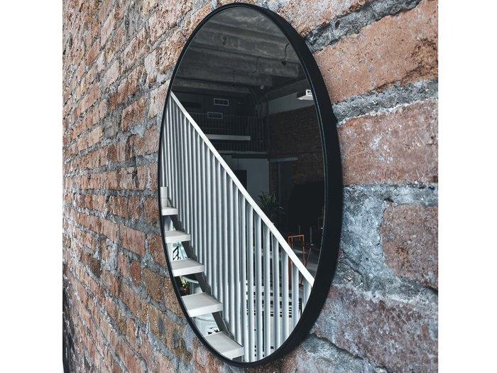 Настенное зеркало Мона диаметр 40 в металлической раме