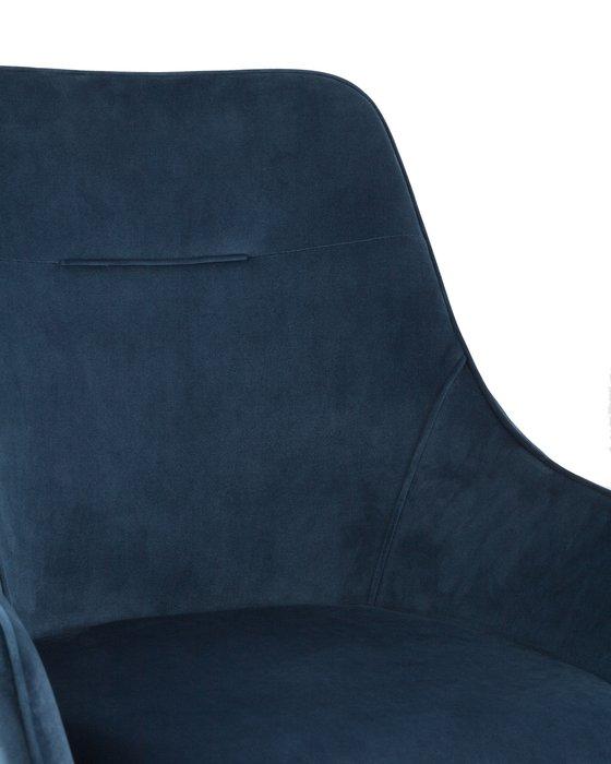 Стул Диана в обивке из вельвета темно-синего цвета